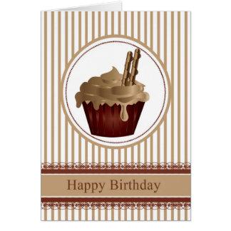 Cupcake Birthday Greeting Card - Coffee With Choco