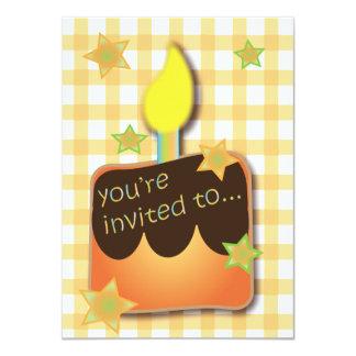 Cupcake Birthday Invitation for boy or girl