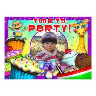 Cupcake Birthday Invite with The GiggleBellies