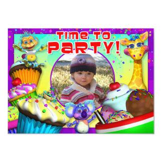 "Cupcake Birthday Invite with ""The GiggleBellies"" 4.5"" X 6.25"" Invitation Card"