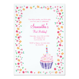 Cupcake Birthday Party Invitation