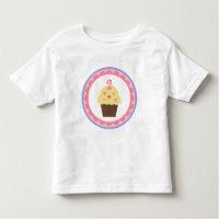 Cupcake Birthday T Shirt 2 Years Old