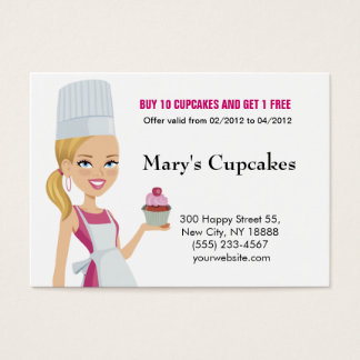 Cupcake Biz Card Blonde version 1
