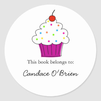 Cupcake Bookplate Labels