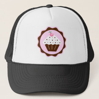 CUPCAKE BROWN & PINK TRUCKER HAT