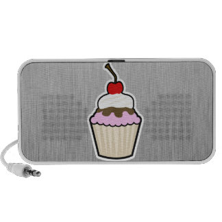 Cupcake; Brushed metal-look iPod Speaker