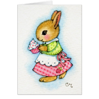 Cupcake Bunny - Cute Rabbit Card