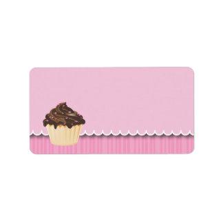 Cupcake Business Address Labels