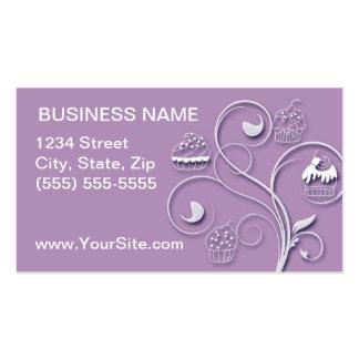 Cupcake Business Card Purple