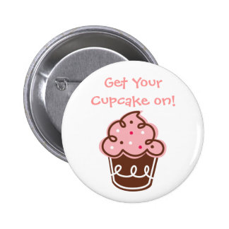 Cupcake button fun cute yummy sweet chic girly