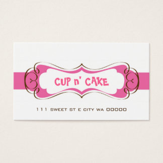 Cupcake, Cake, Bakery Business Card