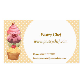Cupcake Cake Pastries Pack Of Standard Business Cards