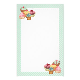 Cupcake Cake Pastries Personalized Stationery