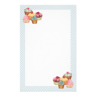 Cupcake Cake Pastries Stationery Paper