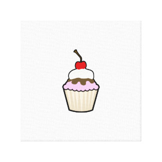 Cupcake Stretched Canvas Print