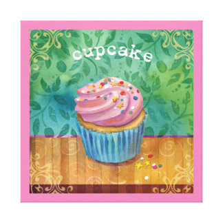 Cupcake Canvas Art Stretched Canvas Print