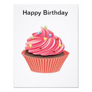 cupcake card 11 cm x 14 cm invitation card