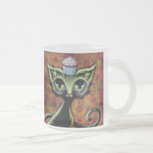 Cupcake Cat Frosted Mug