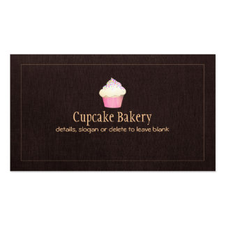 Cupcake Catering Bakery Pastry Chef Double-Sided Standard Business Cards (Pack Of 100)