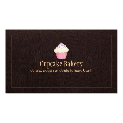 Cupcake Catering Bakery Pastry Chef Business Card Template
