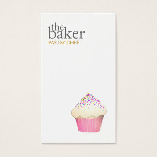 Cupcake Catering Pastry Chef Baking Business Card
