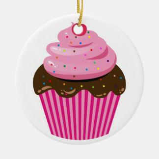 Cupcake Ceramic Ornament