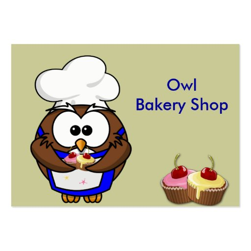cupcake chef owl business cards