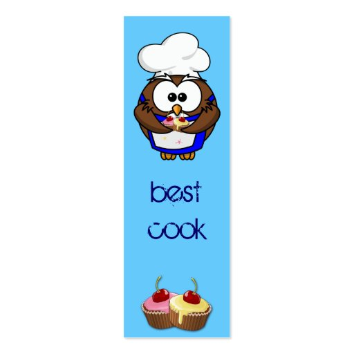 cupcake chef owl business card