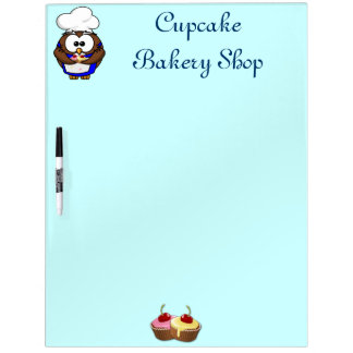 cupcake chef owl Dry-Erase whiteboard