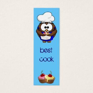cupcake chef owl mini business card