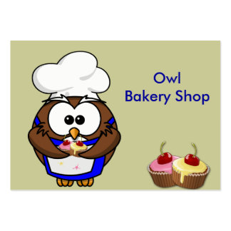 cupcake chef owl pack of chubby business cards