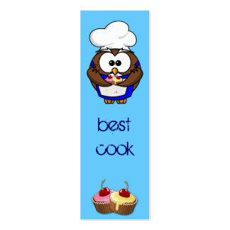 cupcake chef owl pack of skinny business cards