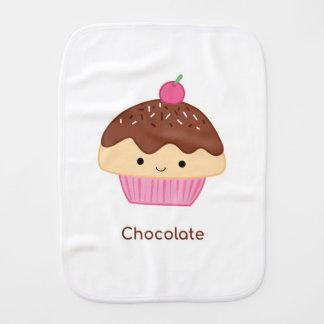 Cupcake, Chocolate Flavor Burp Cloth