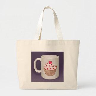 Cupcake Coffee Mug Canvas Bags