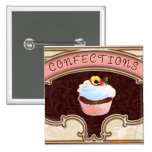 Cupcake Confections Vintage Style Badges