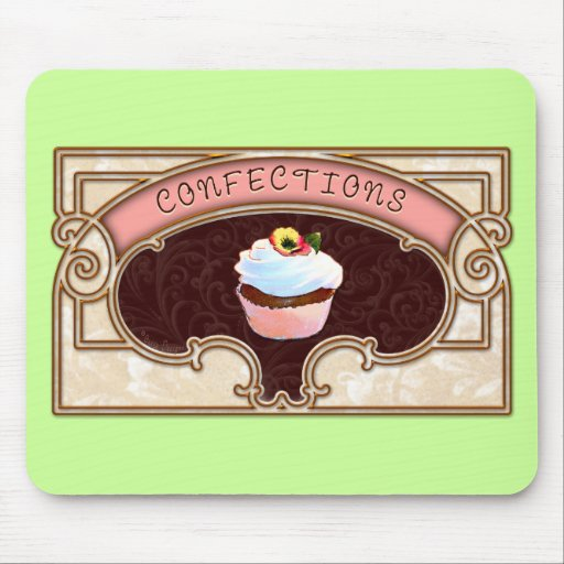 Cupcake Confections Vintage Style Mousemats
