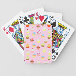 Cupcake Confetti Bicycle Playing Cards
