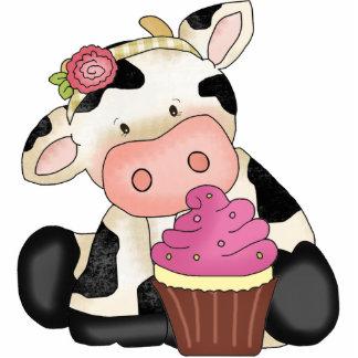Cupcake Cow Sculpture Photo Cutouts