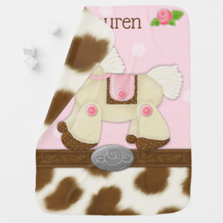 Cupcake Cowgirl Personalized Baby Blanket