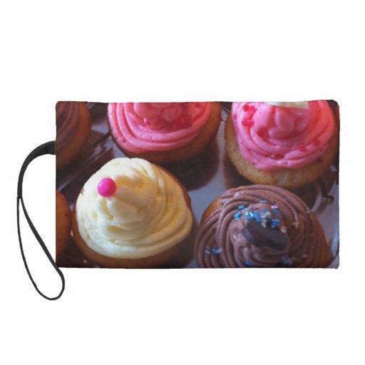 cupcake crazy wristlet purses