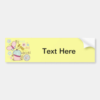 Cupcake Cupcakes Food Desserts Sweet Snack Lovely Car Bumper Sticker