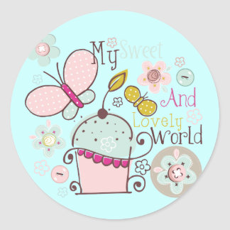 Cupcake Cupcakes Food Desserts Sweet Snack Lovely Round Sticker