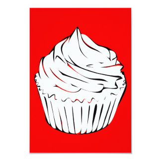 cupcake curls 9 cm x 13 cm invitation card