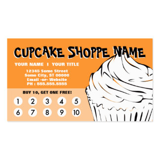cupcake curls loyalty business card templates