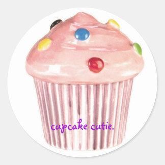 cupcake cutie round sticker