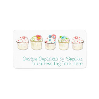 Cupcake Dessert Baking Bakery Business Identity Address Label