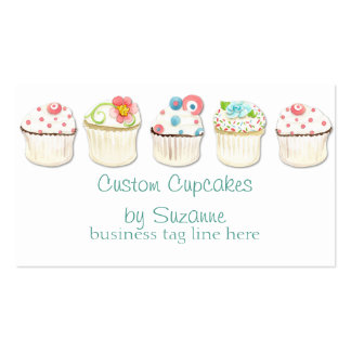 Cupcake Dessert Baking Bakery Business Identity Pack Of Standard Business Cards
