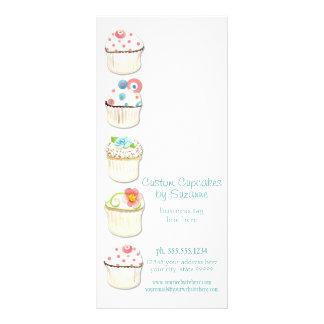 Cupcake Dessert Baking Bakery Business Identity Rack Card Design