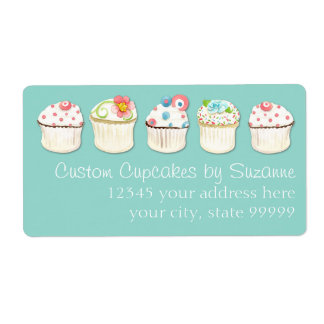 Cupcake Dessert Baking Bakery Business Identity Shipping Label