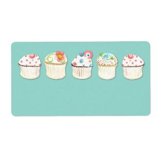 Cupcake Dessert Baking Bakery Business Identity Shipping Label